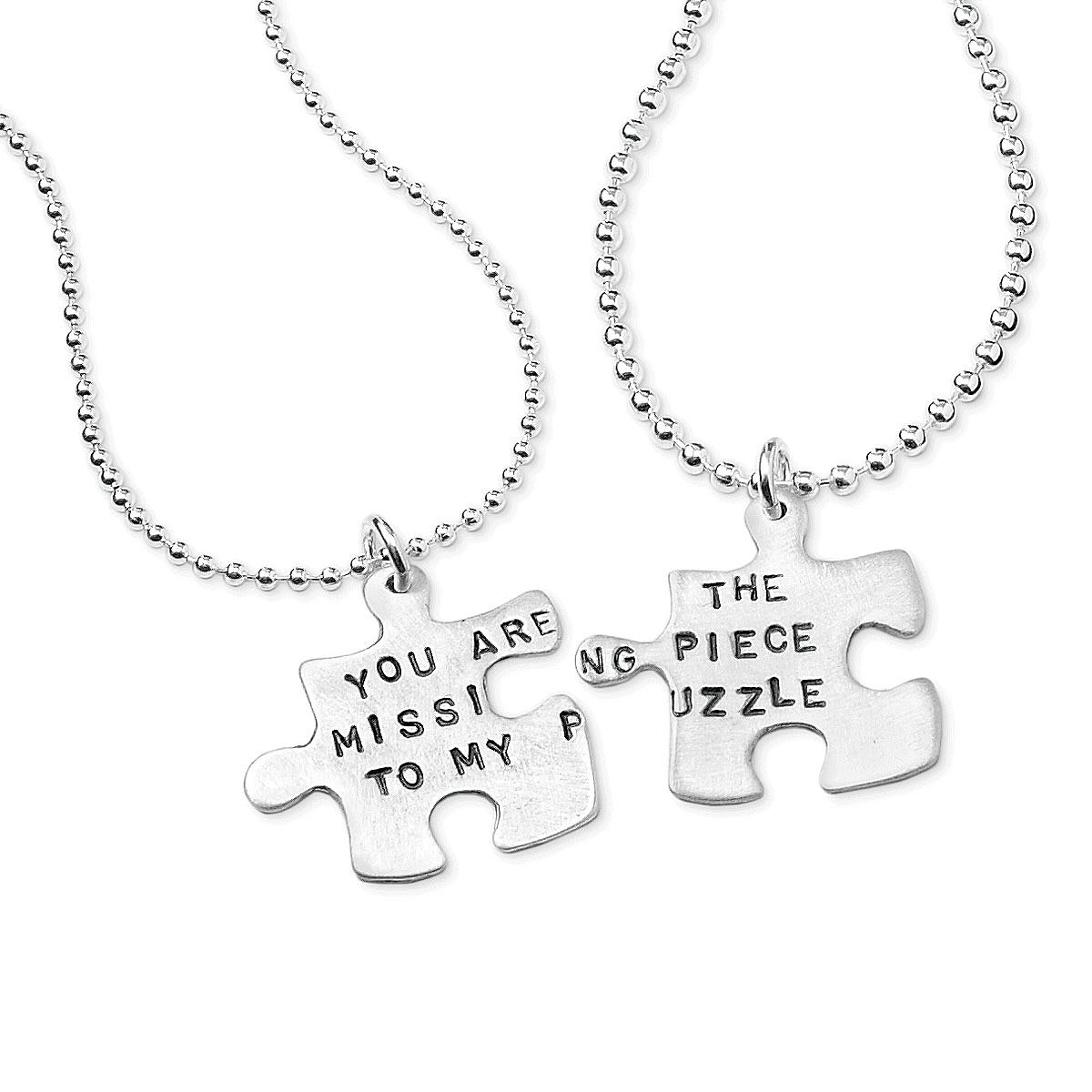 engraved name couples jewelry limoges puzzle necklace everscribe