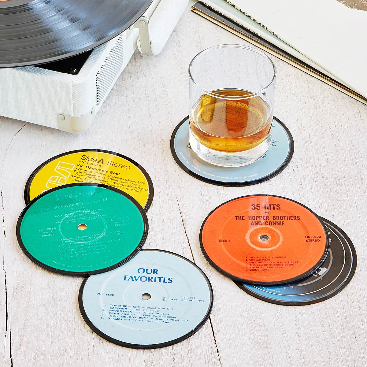 Record coasters recycled vinyl lp coasters uncommongoods record coasters 1 thumbnail m4hsunfo