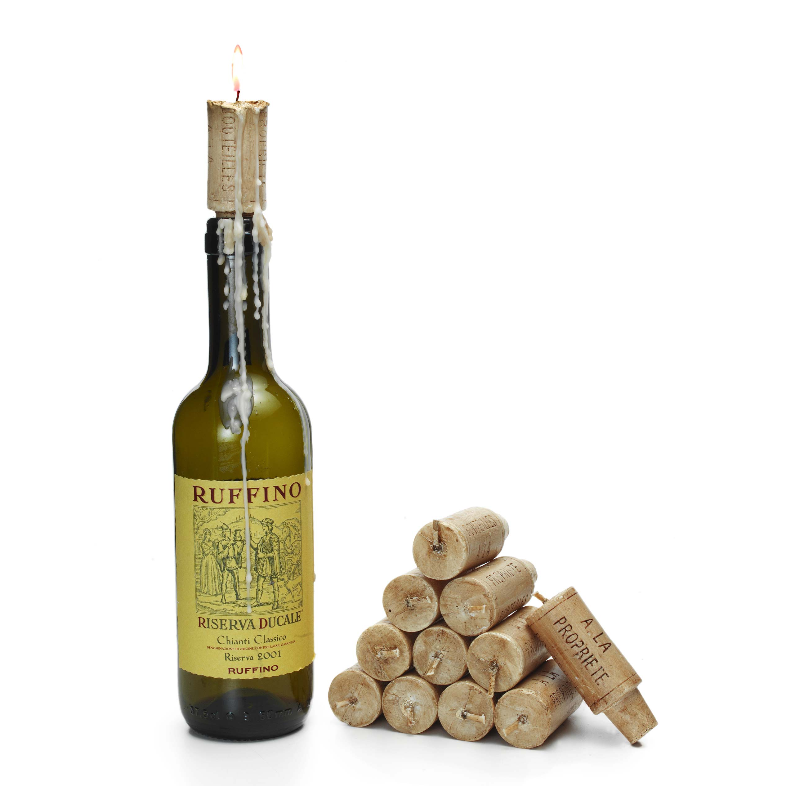 Cork Candles: Wine Cork Candles - Set Of 12