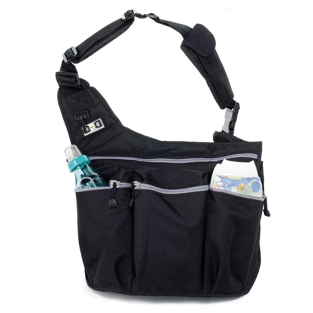 Black Skull /& Bones Diaper Dude Messenger Diaper Bag for Dads