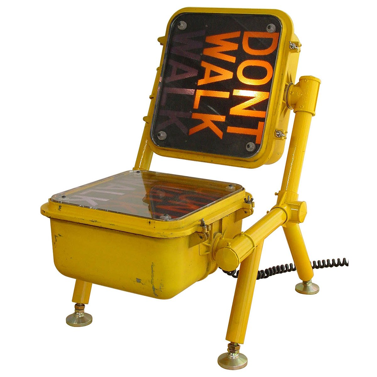Road Tested Chair Dont Walk Sign Furniture Traffic - Road sign furniture