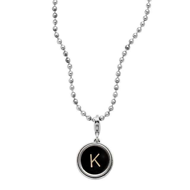 Typewriter Key Necklace