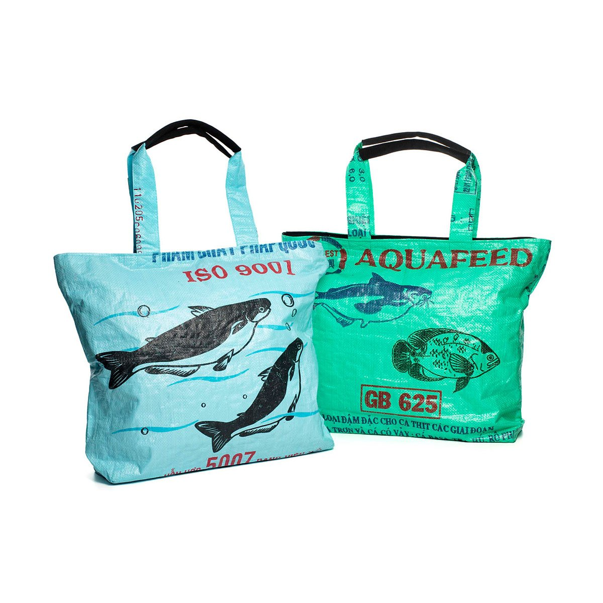 Recycled rice bag purse - Recycled Southeast Asia Weekender Totes 1 Thumbnail