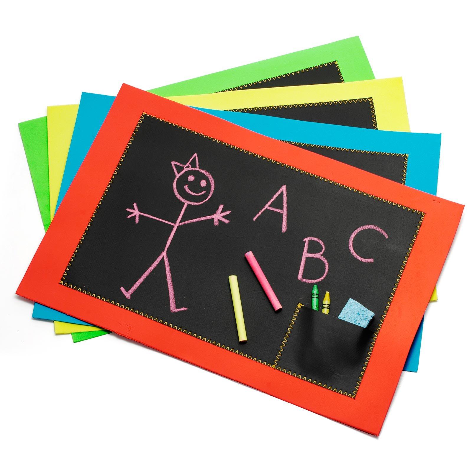 Chalkboard Chalkboard Placemats Set Of 4 Blackboard Chalk Kids Drawing