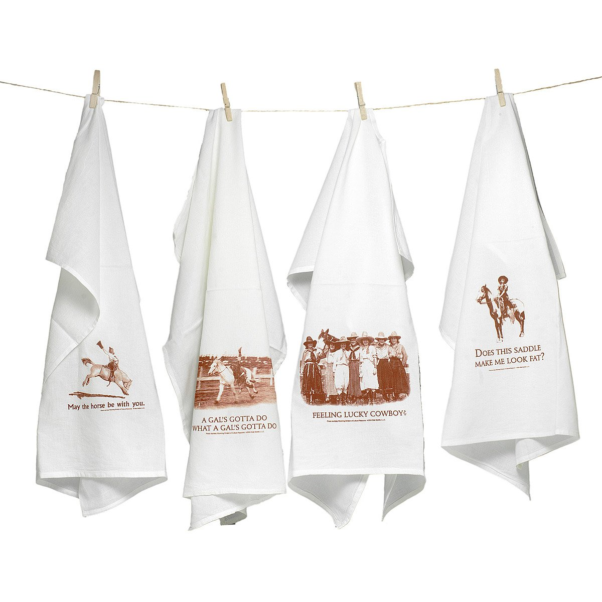 Cowgirl Kitchen Towels | Cowgirl Quotes on Flour Sack Towels ...