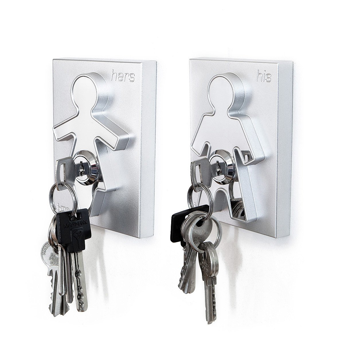 His and Hers Key Holders | Man and Woman Key Hooks
