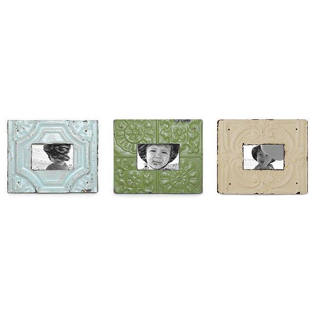 Reclaimed Tin Frames | Reclaimed Tin Photo Frames Blend Antique ...