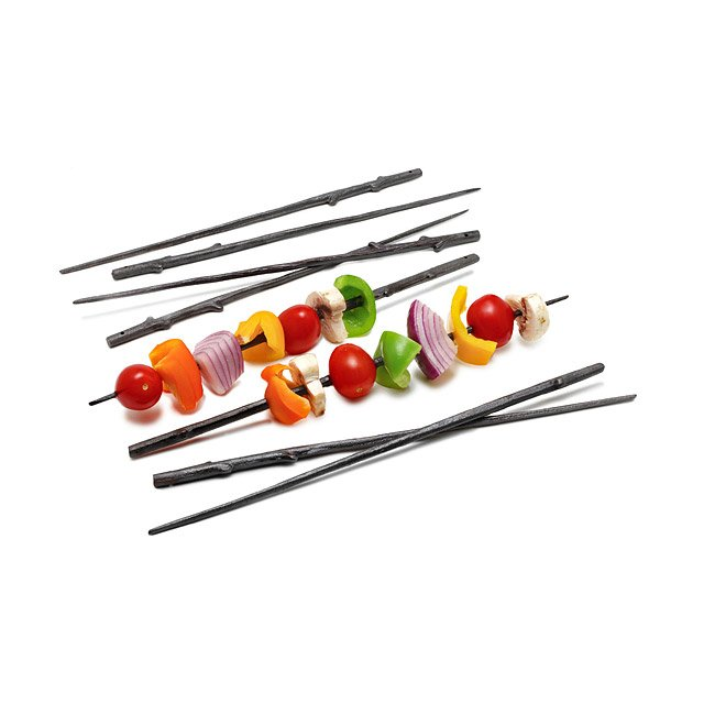 Cast Iron Twig Skewers - Set of 8