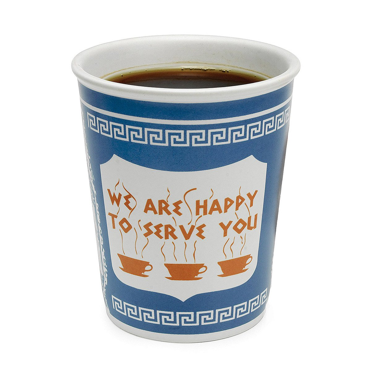 stylish design ideas unique coffee cups. Ceramic Greek Coffee Cup  We Are Happy To Serve You Diner Mug