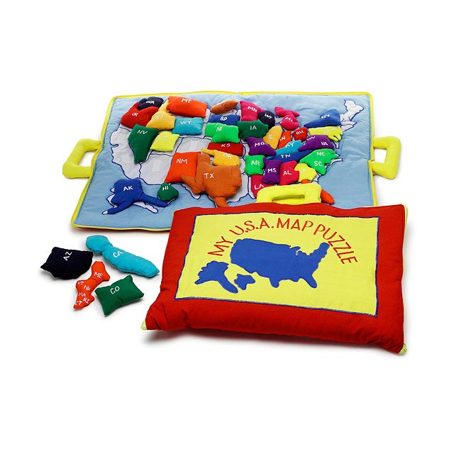 Us Travel Map Fun Colorful Educational Velcro Cotton American - Us-travel-map