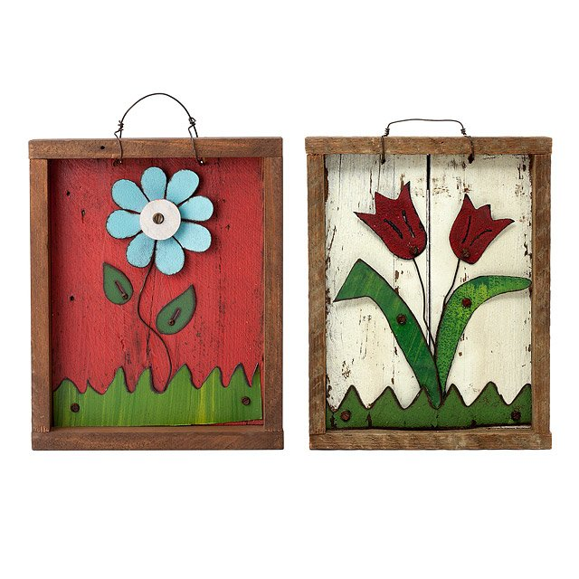 Recycled Tin Flower Art