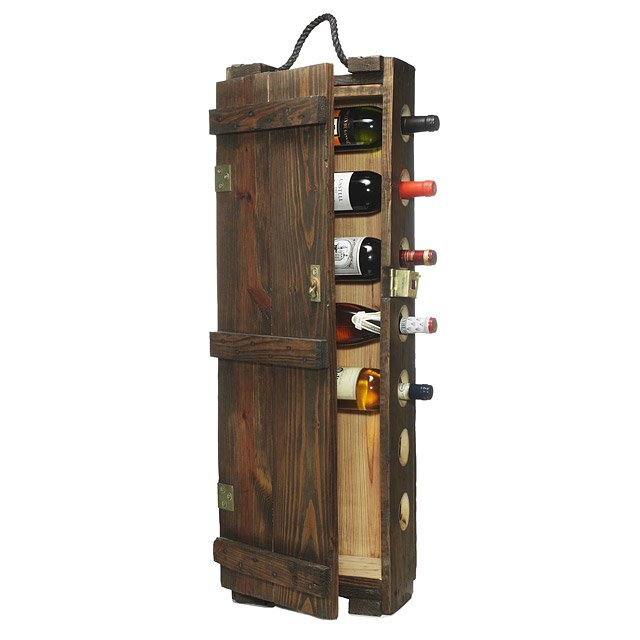 Wooden wine case Box Ammunitions Case Wine Rack Uncommongoods Ammunitions Case Wine Rack Handmade Rustic Recycled Aged Wood