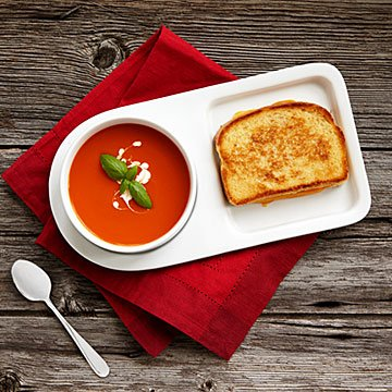 Soup & Sandwich Ceramic Tray Duo