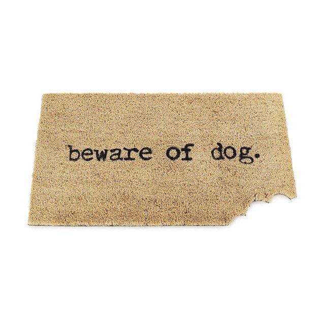 beware of dog mat