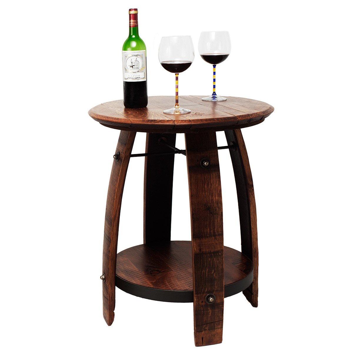 Recycled Wine Barrel Side Table 1 Thumbnail Part 51