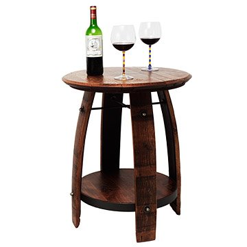 Recycled Wine Barrel Side Table