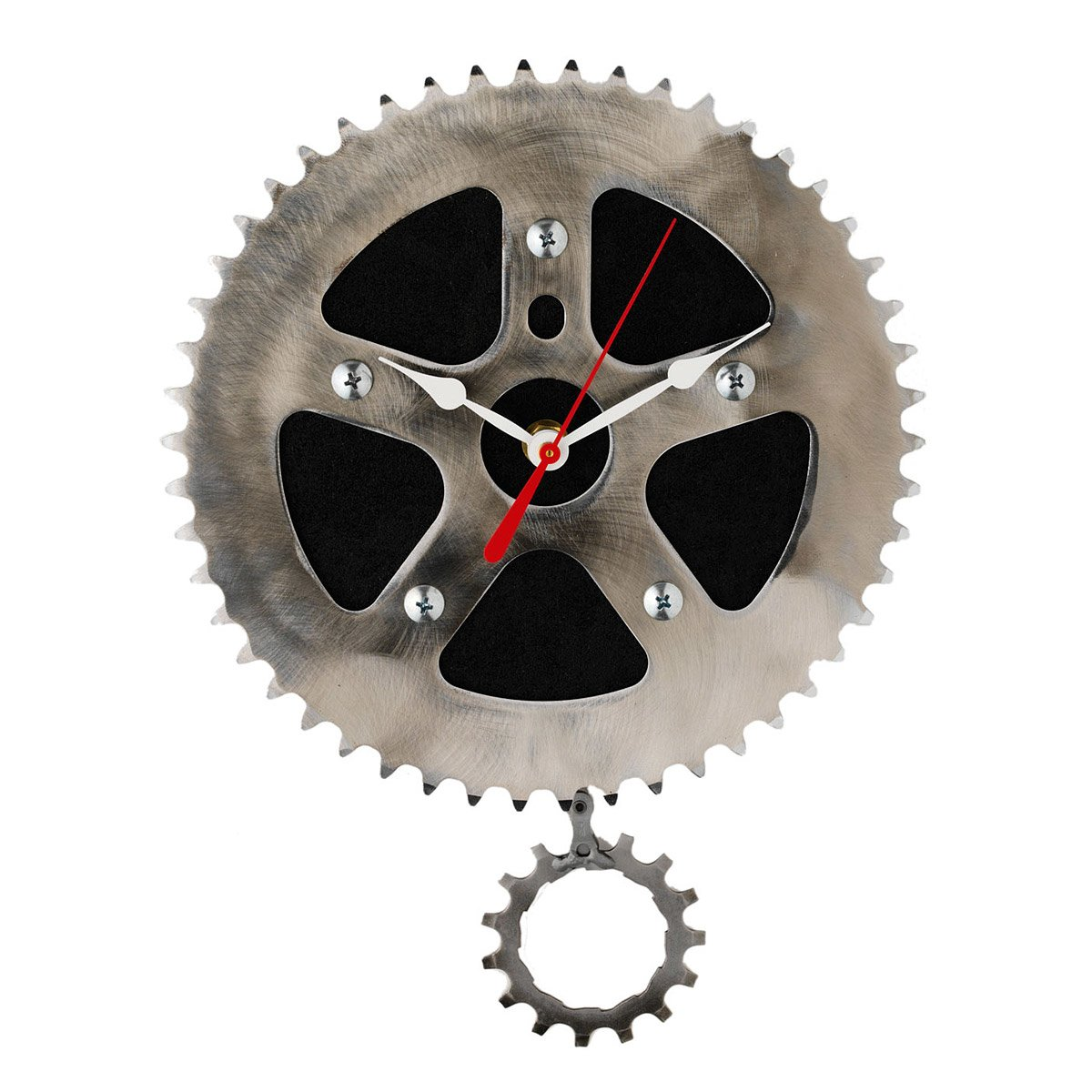 Recycled pendulum wall clock bicycle clock gear chain graham recycled pendulum wall clock 1 thumbnail amipublicfo Choice Image