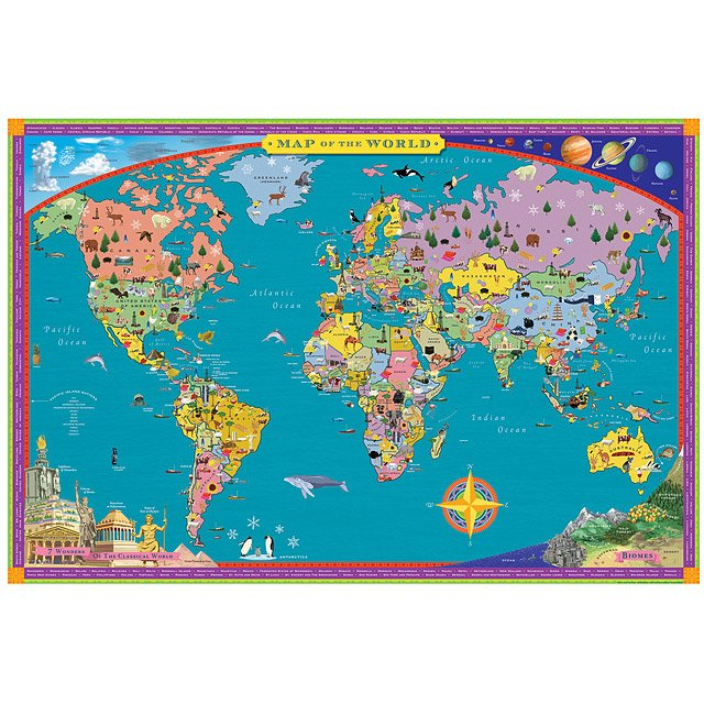Childrens World Map Kids Wall Map UncommonGoods