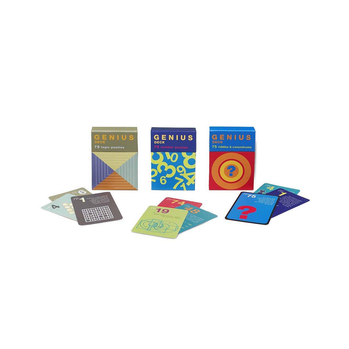Genius Decks | Genius Decks Riddles and Logic Puzzles Exercise the