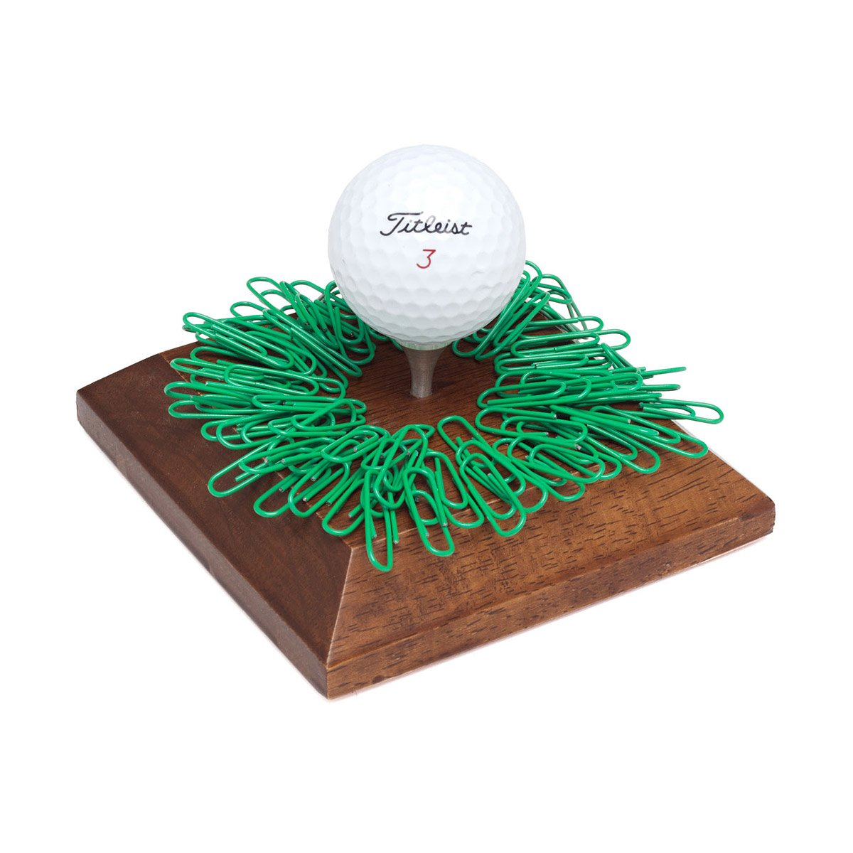 Golf Tee Paperclip Holder   Unique, Fun, Practical Magnetic Wood ...