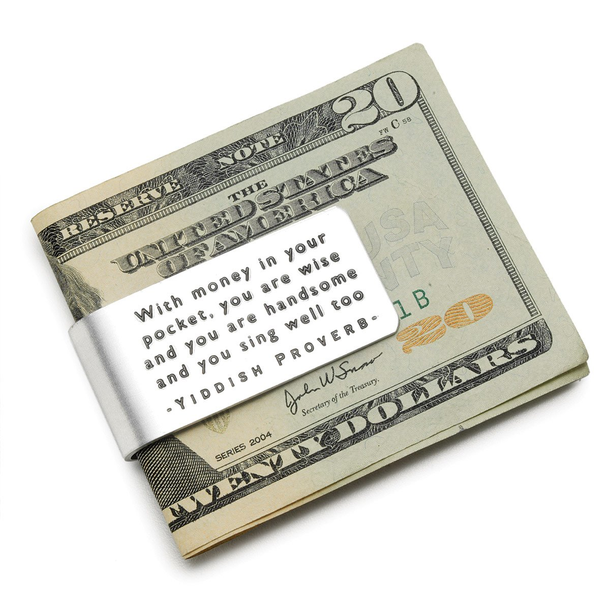 Yiddish Proverb Money Clip | Funny Quote Money Clip ...