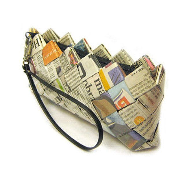 Recycled Newspaper Clutch Purse | Trendy,
