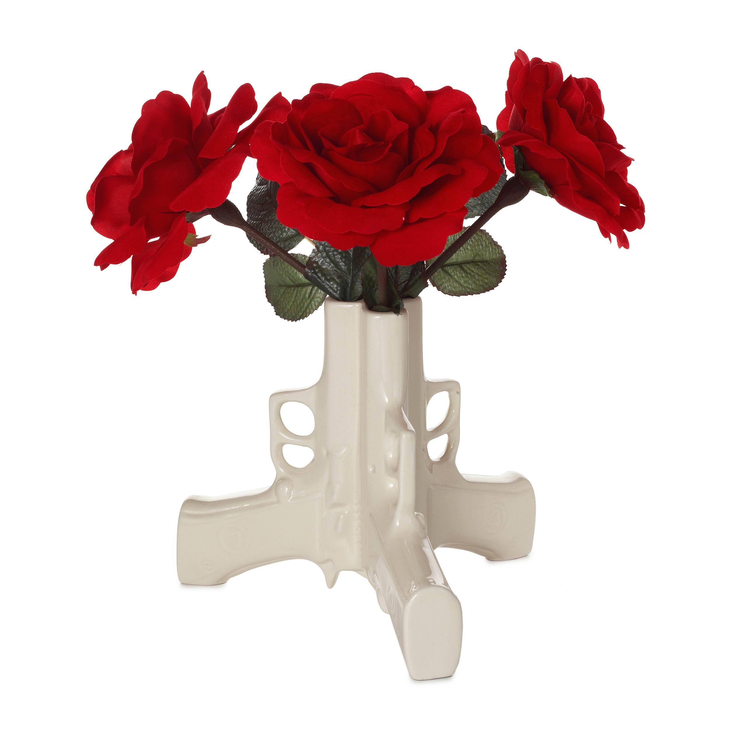 Gun flower vase ceramic pistol vase uses weapon to make peaceful gun flower vase 1 thumbnail reviewsmspy