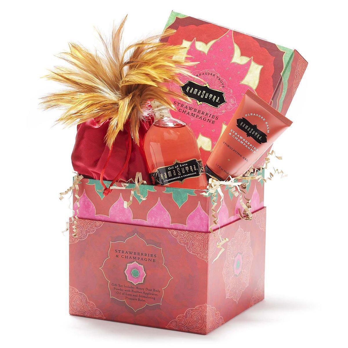 Kama Sutra Treasure Trove | Strawberry and champagne love kit with ...