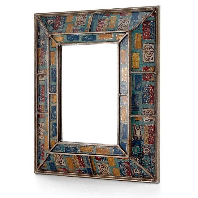 Pukara Mirror   Robert M. Weiss glass reverse painting art by ...