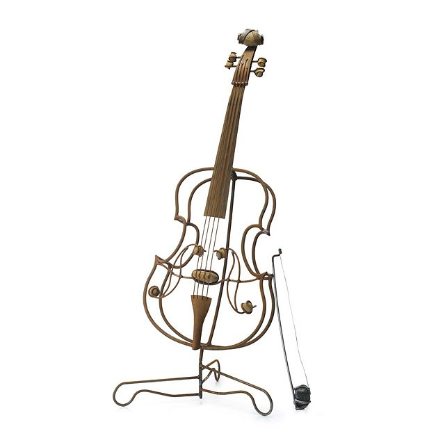 Steel and Stone Cello Sculpture | Iron And Stone Musical