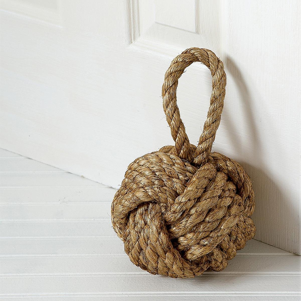rope knot doorstop twine ball