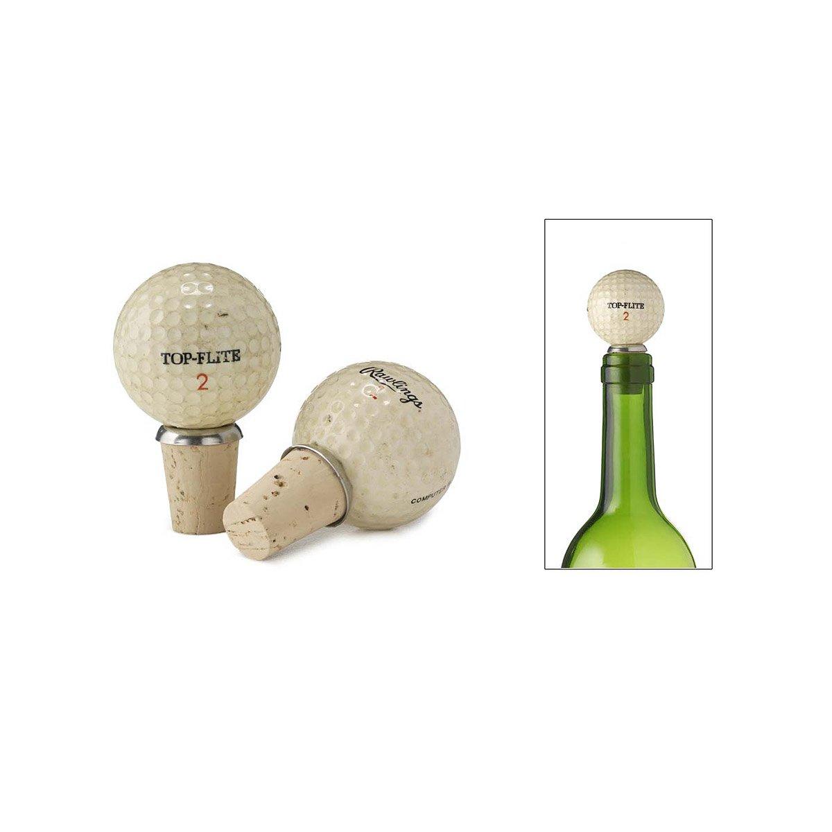 Golf Ball Bottle Stopper | Vintage Golfball Cork Bottle Stopper ...