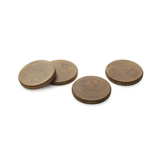 Teak Wood Coasters - Set of 4