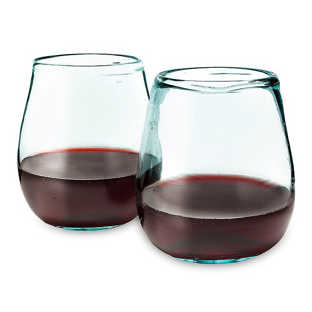 Recycled Wine Glasses