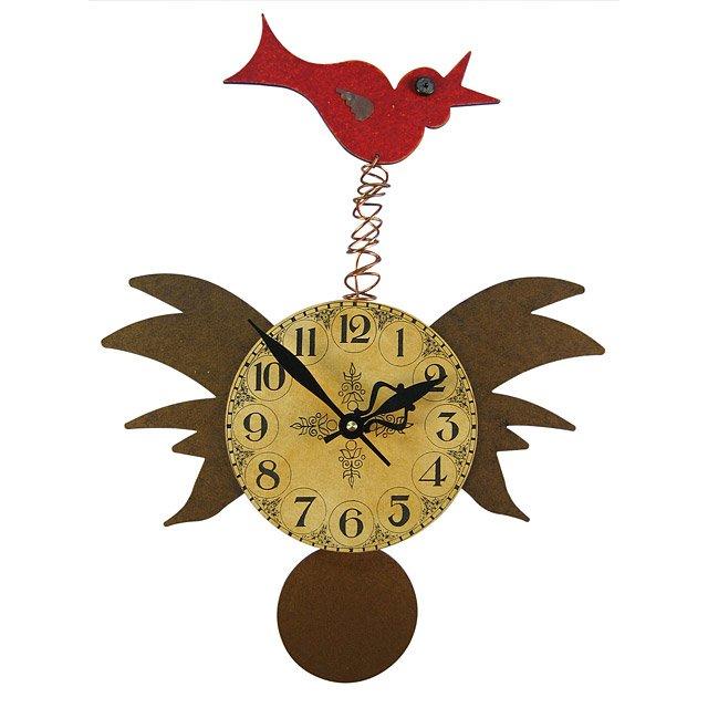 bird pendulum wall clock