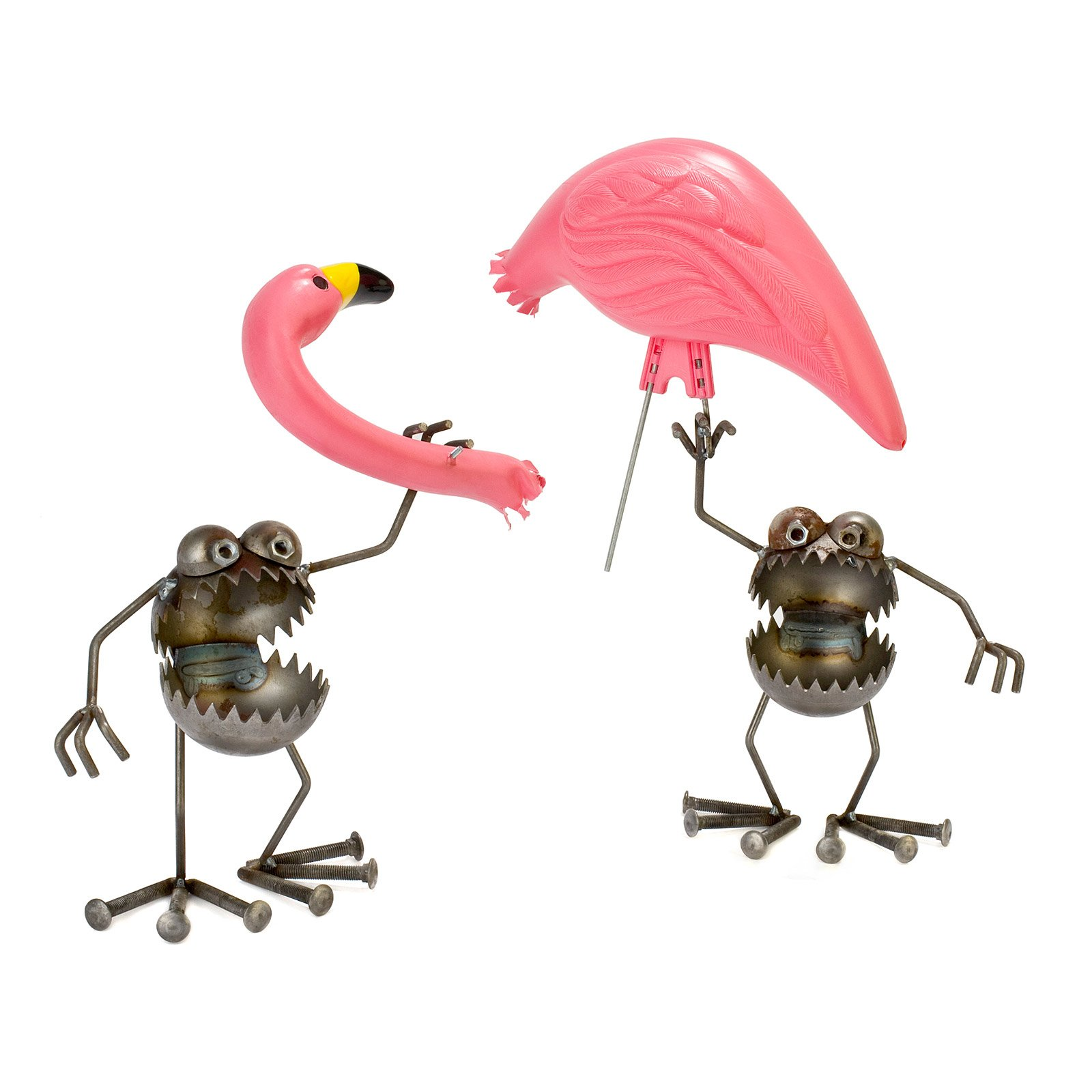 Flamingo-Away Sculpture | Gnome Be Gones, Fred Conlon, Garden ...