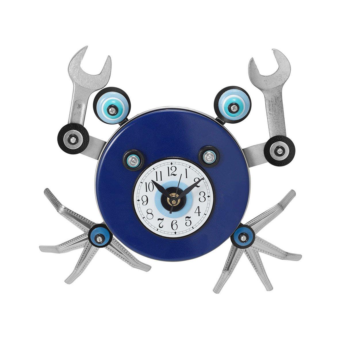 Crab wall clock blue shell crabs clocks by mark brown reclaimed crab wall clock 1 thumbnail amipublicfo Gallery