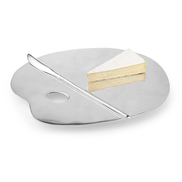 Artist Cheese Board with Brush Knife