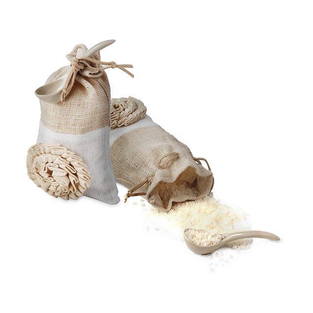 Bath Salts With Ceramic Scoop | Beautiful Bathsalts, Spa Kit