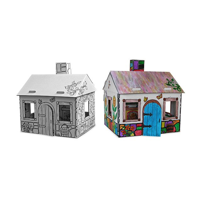 Cardboard Cottage Doll House