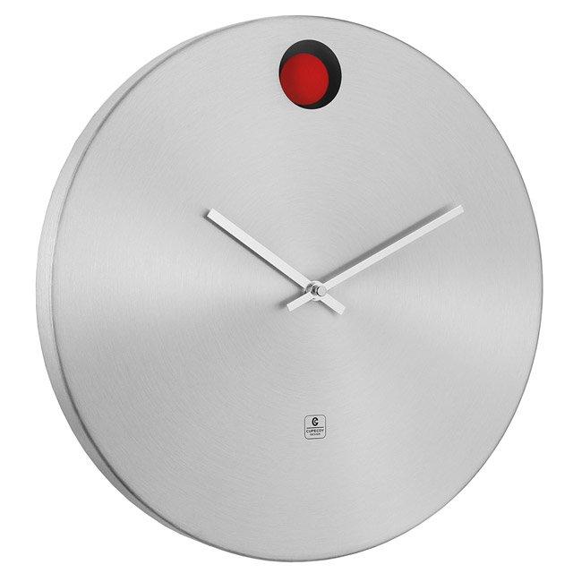 Aluminum Wall Clock With Red Pendulum Aluminums Sleek Basic