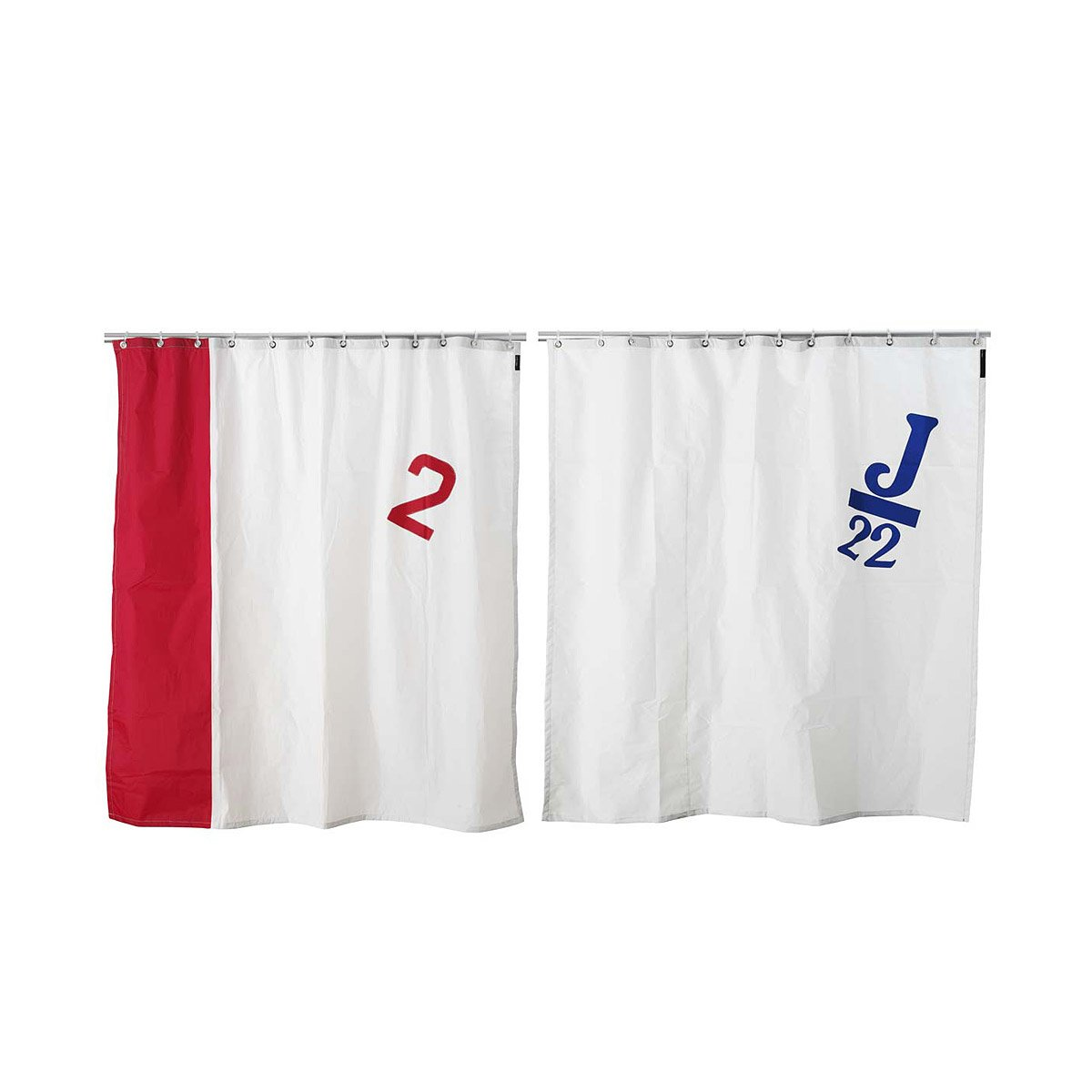 Spinnaker Sail Shower Curtain | Real Recycled Boat Sails Shower ...