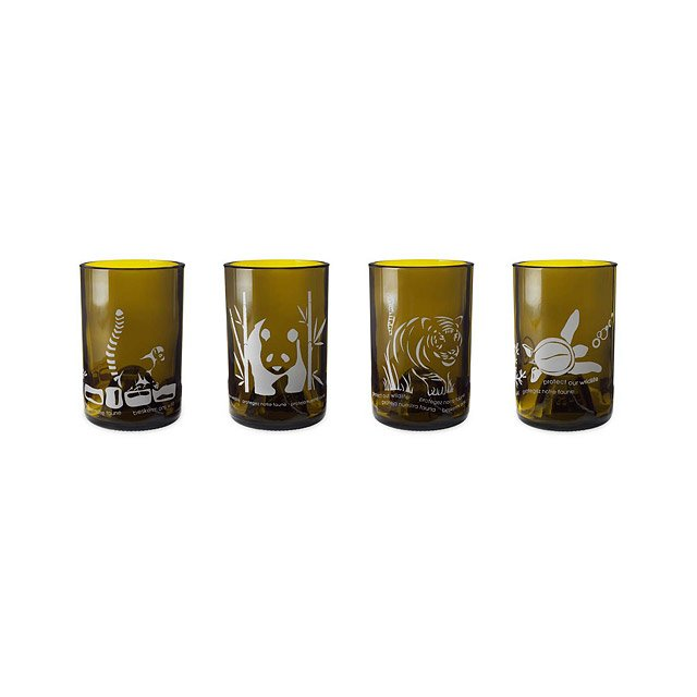 Protect Our Wildlife Glasses - Set of 4