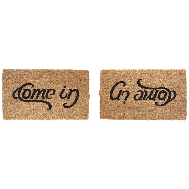 Come In Go Away Doormat Humor