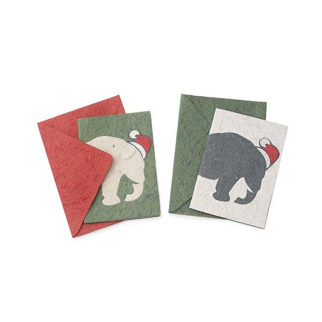 elephant christmas cards