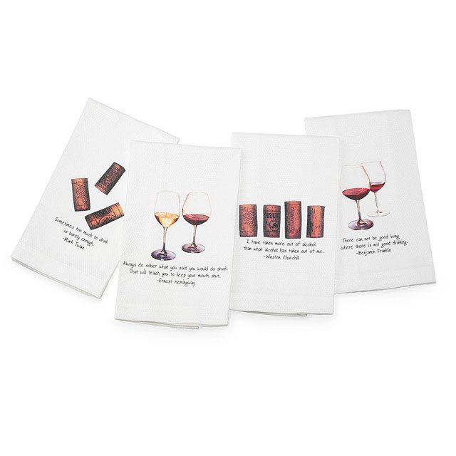 Quotable Wine Towels - Set of 4
