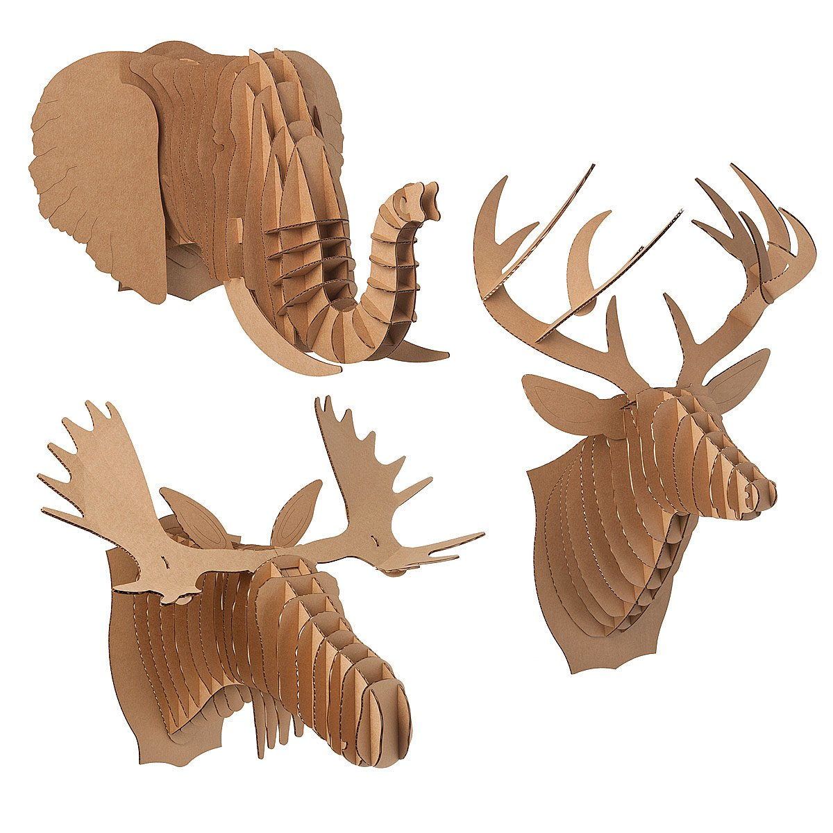 Cardboard animal heads paper deer moose elephant uncommongoods cardboard animal heads amipublicfo Gallery
