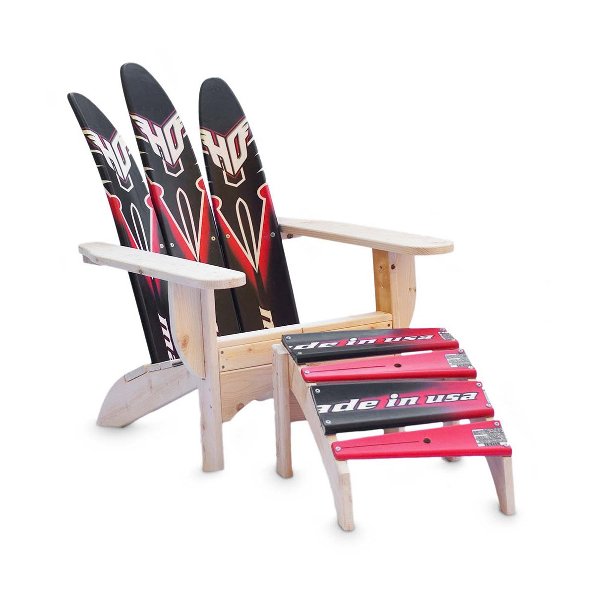 Adirondack Waterski Chair And Ottoman – Adirondack Ski Chairs