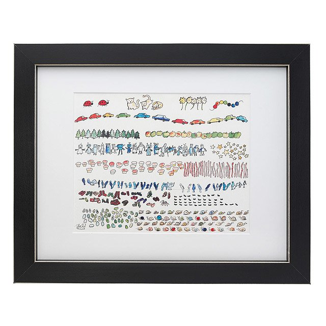 Framed Prime Number Chart  Nerdy Baby Art Young Scientist Numbers
