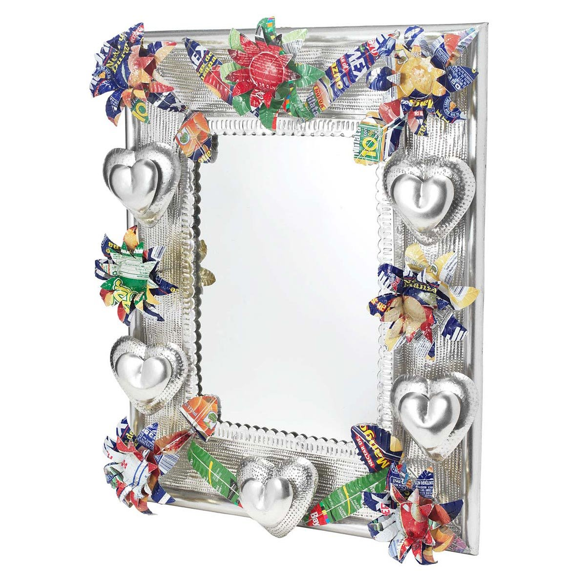 Large Recycled Tin Mirror 1 Thumbnail